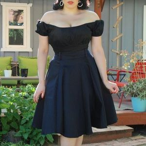 💖Pinup Couture Black Doris Skirt💖